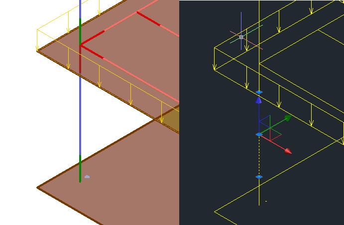 Les poutres sont exportées en 3 parties