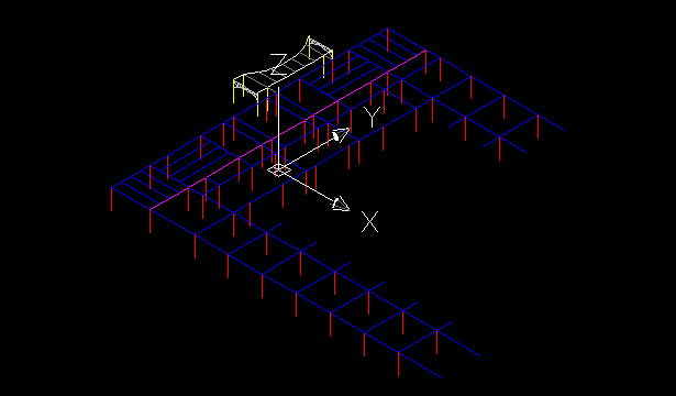 A model exported and displayed in AutoCAD